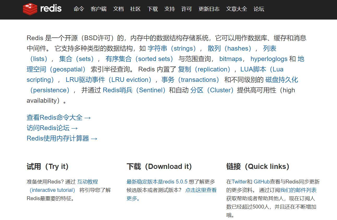 redis中文网